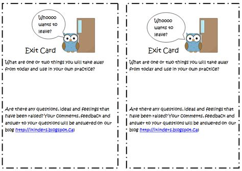 exit card template pin exit cards template index of on