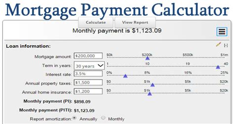deposit for house loan mortgage payment calculator calculate your ideal payment