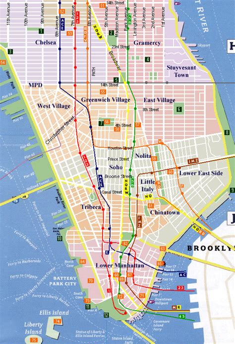 downtown new york city map city of new york downtown map new york map