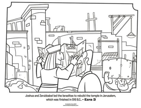 coloring page for nehemiah rebuilding the wall kids coloring page from what s in the bible featuring