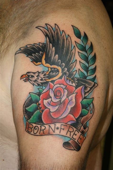 eagle rose tattoo kecebong images by thelma carver