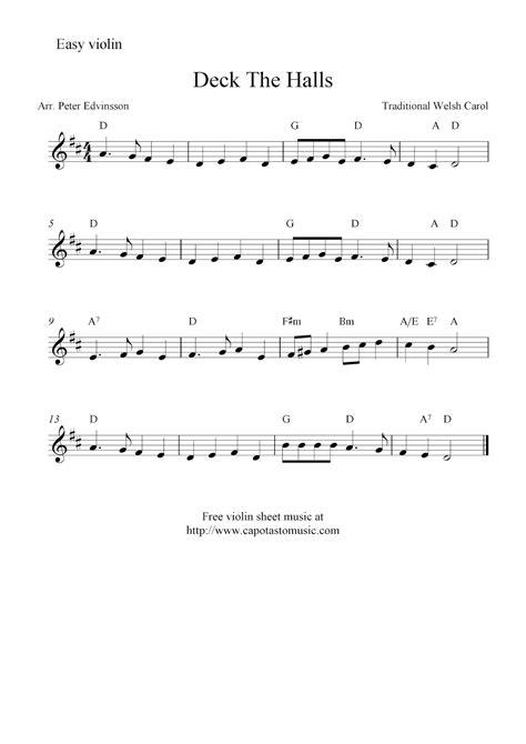 printable christmas violin sheet music free deck the halls free christmas violin sheet music notes