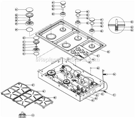 dacor cooktop replacement parts dacor pgm365 parts list and diagram ereplacementparts