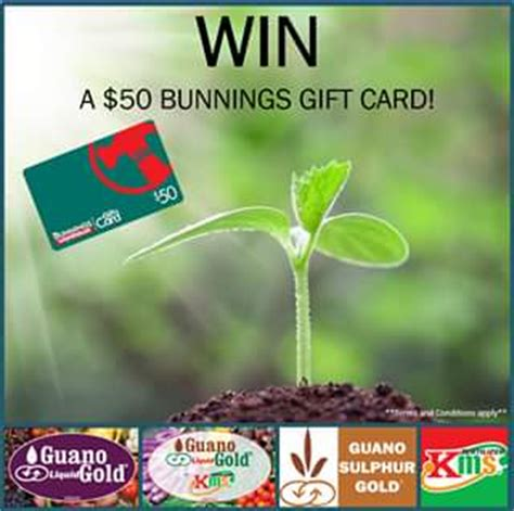 Bunnings Gift Card Terms And Conditions - guano australia win a 50 bunnings gift card australian competitions