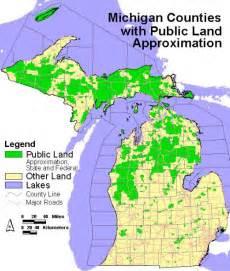 Michigan Public Land Map michigan state owned land maps bing images