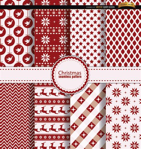 white xmas pattern 8 christmas red and white patterns vector free download