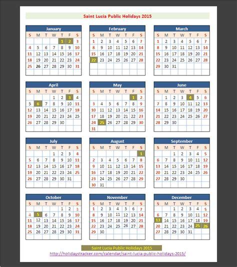 Lucia Calend 2018 Lucia Holidays 2015 Holidays Tracker