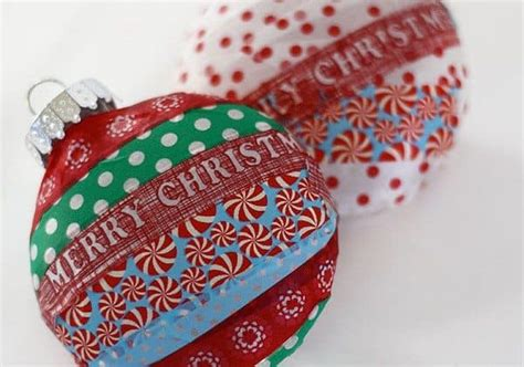 washi tape christmas craft washi tree ornaments alpha