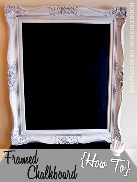 diy chalkboard with picture frame diy framed chalkboard for kitchen crafts ideas