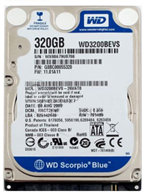 Hardisk Acer 320gb 320gb Acer 5400rpm 2 5in Sata Hdd