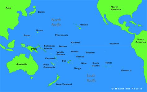 south pacific map pacific islands