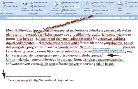 membuat footnote di wordpress cara membuat footnote catatan kaki di word 2007 copy vaste