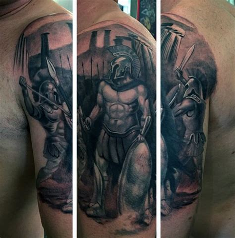 greek warrior tattoo mythology tattoos design for tattoosera