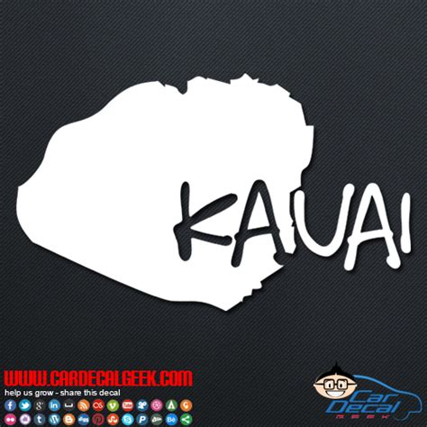 Auto Sticker Hawaii by Kauai Hawaii Island Car Window Vinyl Decal Sticker
