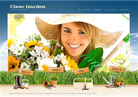 Gardening Information Websites Garden Service Flash Website Template Best Website Templates
