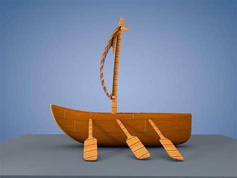 cartoon boat 3d model cartoon boat 3d asset cgtrader