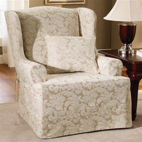pottery barn slipcover chairs wingback chair slipcovers pottery barn the clayton