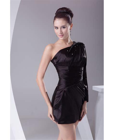 black  long sleeve pleated mini short party