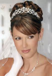 Your best wedding hair styles for the bride photo with rhinestone