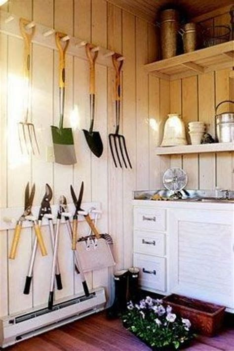 Garden Shed Organization Ideas 33 Practical Garden Shed Storage Ideas Digsdigs