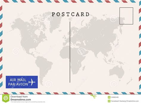 airmail postcard template airmail postcard template back of airmail blank postcard