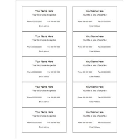 word template business cards avery 8371 moreload