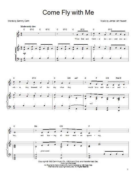 Fly Me With Your Song 2 come fly with me sheet direct
