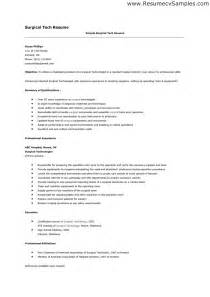 surgical tech resume sle surgical technologist resume resume template 2017