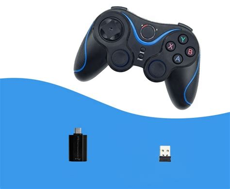 Joystick Otg wireless controller joystick gamepad with otg for pc black blue free shipping