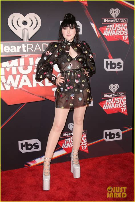 Noah Cyrus Wears Sheer Dress & Sky High Shoes at ... Iheartradio Awards 2017