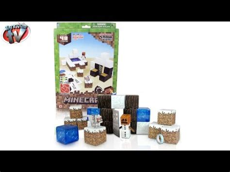 Minecraft Papercraft Snow Set - minecraft papercraft snow biome target practice unboxing