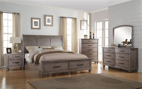 New Classic Bedroom Furniture La Jolla Taupe Sleigh Storage Bedroom Set From New Classic Coleman Furniture