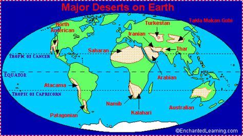 deserts map desert locations