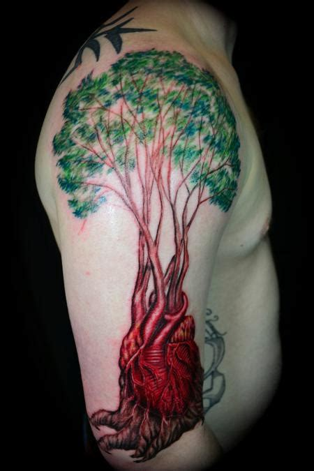 anatomical heart tree of life by ryan el dugi lewis tattoos