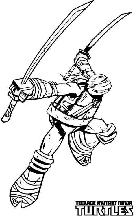 teenage mutant ninja turtles katana blades is leonardo