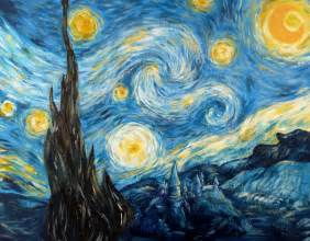 Starry Night Starry Night With The Tardis Starry Night Over