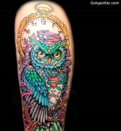 cartoon owl tattoo designs animated owl tattoos