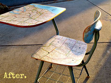 Decoupage Maps On Furniture - decoupage furniture tutorial wood desk my altered state