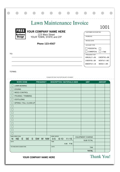 lawn care estimate forms