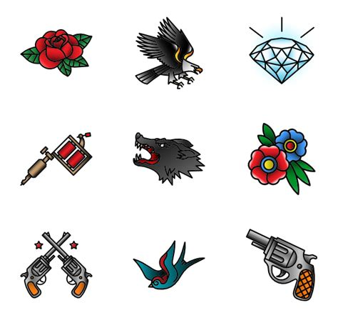 new tattoo png linear color emoticons 55 free icons svg eps psd png