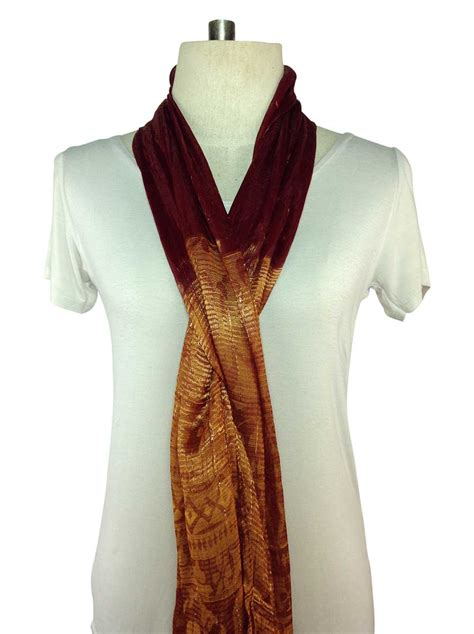 a burgundy silk scarf order direct from thailand