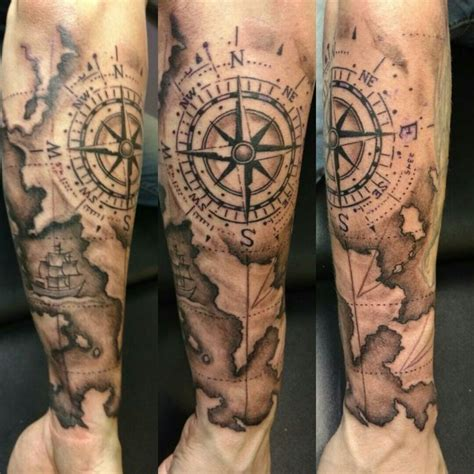 tattoo compass world map map and compass tattoo hidden gem tattoo studio