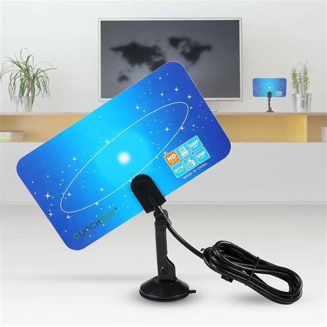 digital indoor tv antenna hdtv box linear hd vhf uhf stereo  satellite signal ebay