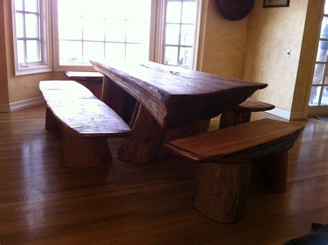 Reclaimed Wood Dining Room Sets red cedar driftwood dining table with benches zack leck