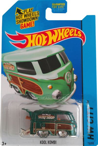 Hotwheels Vw Volkswagen Kool Kombi 2014 Hijau kool kombi wheels 2015 treasure hunt