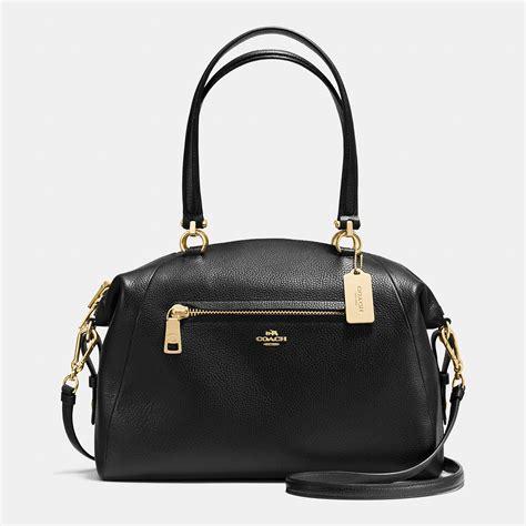preloved leather satchel bag lyst coach prairie satchel bag in leather in black