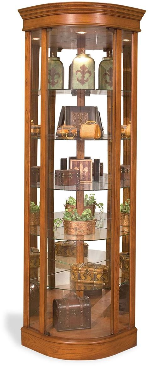 curved corner curio cabinet lighthouse auberage ii oak curved corner curio cabinet