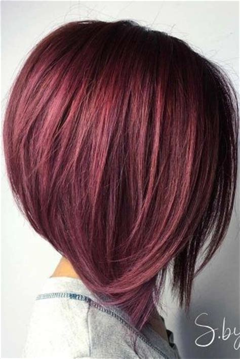 stacked bob haircuts dyed red les 25 meilleures id 233 es de la cat 233 gorie m 232 ches rouges sur