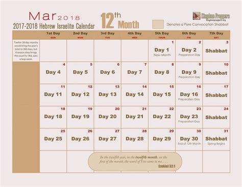 Hebrew Calendar Hebrew Israelite Calendar 2017 2018 Kingdom Preppers
