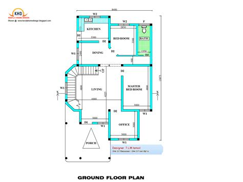 1800 Sq Ft House Plans by House Plan Elevation Kerala Home Design Floor Plans